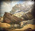 Baigneuse sous les rochers du Grand Fort a Carteret, Lalyre.jpg