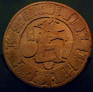 Chinkultic - Ballcourt marker from Chinkultic. In the National Museum of Anthropology, Mexico City