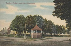 Kingfield, Maine - Image: Bandstand & Common, Kingfield, ME