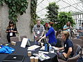 Barbican conservatory terrace at 12-30pm on Friday of Wikimania 2014 01.jpg