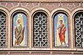 Barcelona Mare de Déu de la Bonanova church. Mosaics on the façade Saints Gervasius and Protasius.jpg