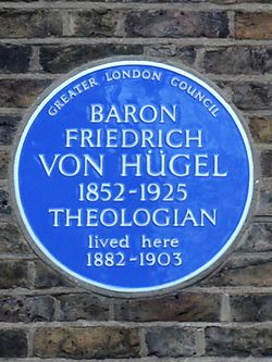Baron friedrich von h%c3%bcgel 1852 1925 theologian lived here 1882 1903