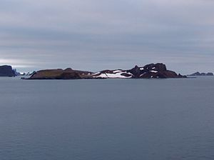 Aitcho Islands (South Shetland Islands) - Barrientos Island from English Strait.