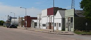Bartley, Nebraska - Downtown Bartley: west side of Commercial Street