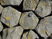 Basaltsäulen im Querschnitt