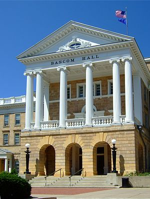 Bascom Hall on the campus of the University of...