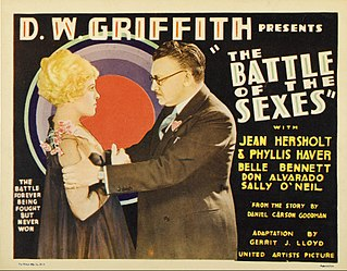 <i>The Battle of the Sexes</i> (1928 film) 1928 film by D. W. Griffith