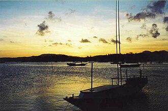 Bawean - View of the island near the city of Sangkapura