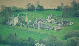 Bayham Old Abbey - Aerial view of the abbey