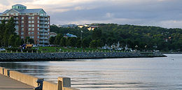Waterfront development in Bedford, NS at the tip of the Bedford Basin