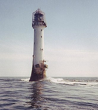 Bell Rock Lighthouse - Bell Rock Lighthouse with reef just visible