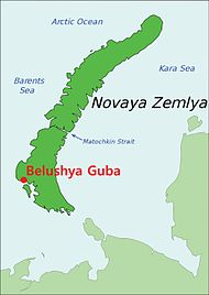 Belushya Guba on map of Novaya Zemlya.jpg