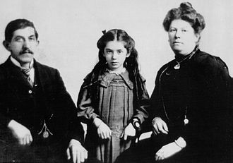 Eva Hart - Eva's father Benjamin (who disappeared aboard the Titanic), herself and her mother Esther