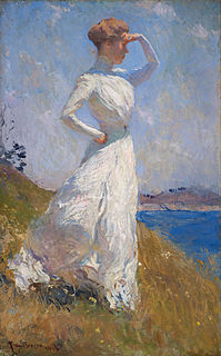 <i>Sunlight</i> (Benson) oil painting by Frank Weston Benson