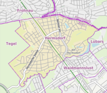 Hermsdorf (quartiere di Berlino)--Berlin-Hermsdorf Karte
