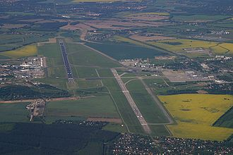 Berlin Schönefeld Airport - Aerial view prior to the start of the construction of Berlin Brandenburg Airport
