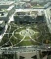 Berlin view from TV tower to demolition Palast der Republik Marx Engels Forum 2007 02 27.jpg
