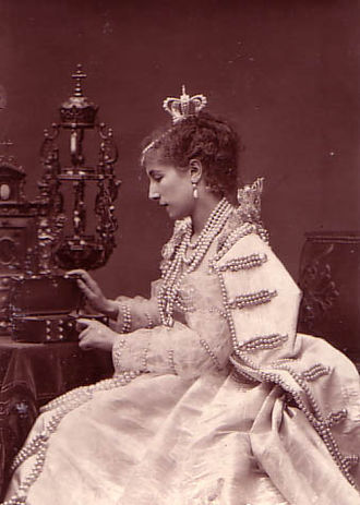 Ruy Blas - Actress Sarah Bernhardt as the Queen, 1879.