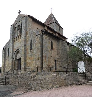 Bert, Allier - The church in Bert