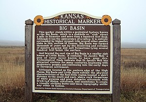 Kansas Historical Marker at Big Basin Prairie ...