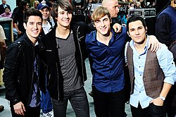 Big Time Rush (von links nach rechts): Logan, James, Kendall, Carlos