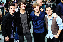 De band Big Time Rush uit de serie