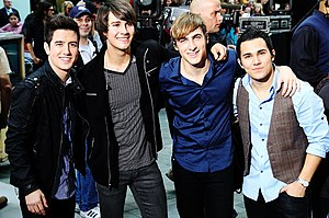 Logan Henderson - Henderson with Big Time Rush in 2010.