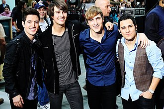Big Time Rush (band) - From left to right; Logan Henderson, James Maslow, Kendall Schmidt and Carlos Pena, Jr.