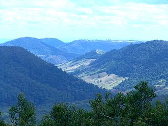 Lamington National Park - View north to Beechmont from Binna Burra, 2005.