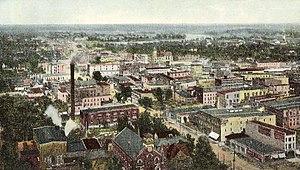 Topeka, Kansas - Bird's-eye view in 1909