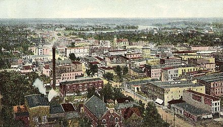 Bird's-eye view in 1909