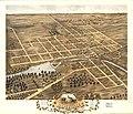 Bird's eye view of Naperville, DuPage County, Illinois 1869. LOC 73693366.jpg