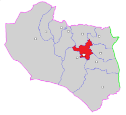 Map of Birjand County in South Khorasan province