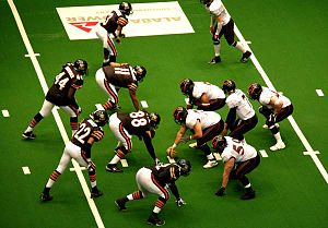 Louisville Fire - On offense against Birmingham in May 2006 at the BJCC Arena.