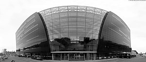 Royal Library, Denmark - Panoramic view of the new building opened in 1999 (taken by Peter Pihlmann Pedersen, 2013)