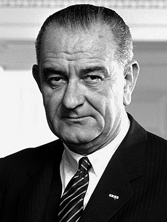 Democratic Party presidential primaries, 1968 - Image: Black and White 37 Lyndon Johnson 3x 4