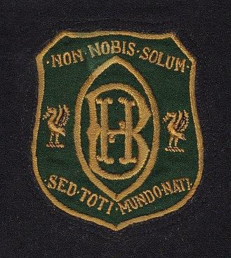 Blackburne House - Blackburne House 1930s blazer Badge