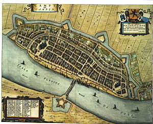 Kampen, Overijssel - Kampen (Blaeu's Toonneel der Steden Dutch city maps, by Willem and Joan Blaeu, 1652