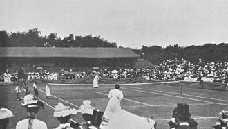 1901 Wimbledon Championships - Image: Blanche hillyard vs charlotte cooper sterry at the 1901 Wimbledon final