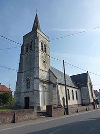 Blessy (Pas-de-Calais, Fr) église Saint Omer, tour.JPG