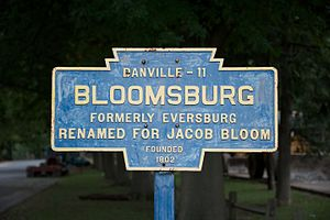 Bloomsburg, Pennsylvania - Keystone marker