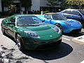 Blue & green Tesla Roadsters front.JPG
