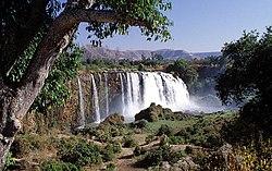 Akvofaloj de Blua Nilo en Etiopio