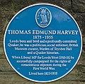 Blue plaque, Thomas Edmund Harvey - Grosvenor Road, Headingley.jpg
