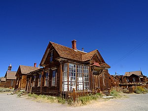 The ghost town of Bodie, California. Lens: Sig...