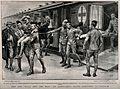Boer War; Red Cross hospital train arriving at Durban. Proce Wellcome V0015555.jpg