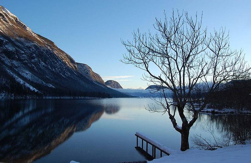 Slovenian mountain lake.
