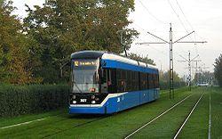 Tramwaj Bombardier NGT6/2 z trzeciej dostawy dla Krakowa