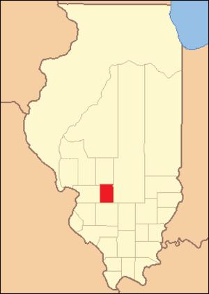 Bond County, Illinois - Image: Bond County 1821