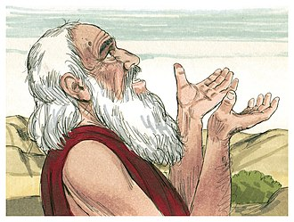 Vayeira - Abraham pleaded with God on Sodom's behalf. (1984 illustration by Jim Padgett, courtesy of Distant Shores Media/Sweet Publishing)